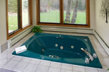 Jacuzzi tub in spa suite
