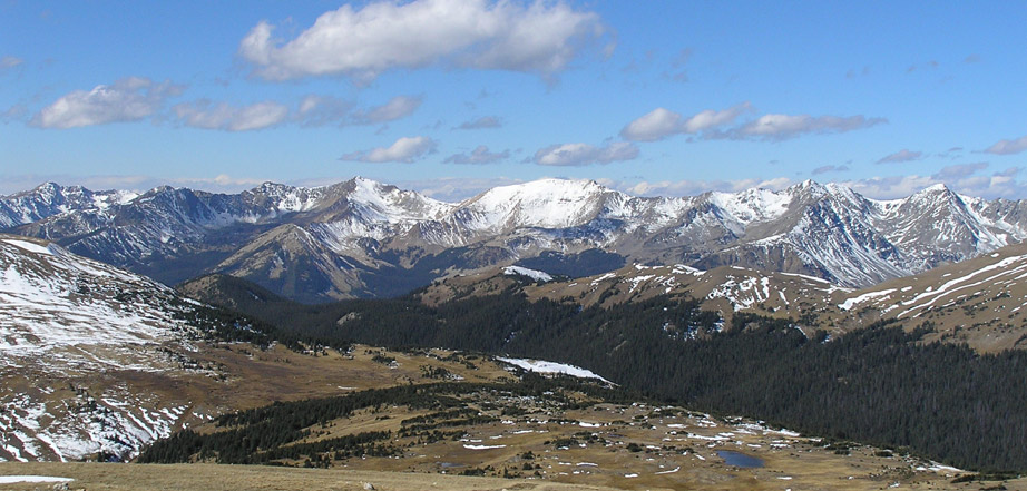 Snow-covered Rocky Mountain National Park